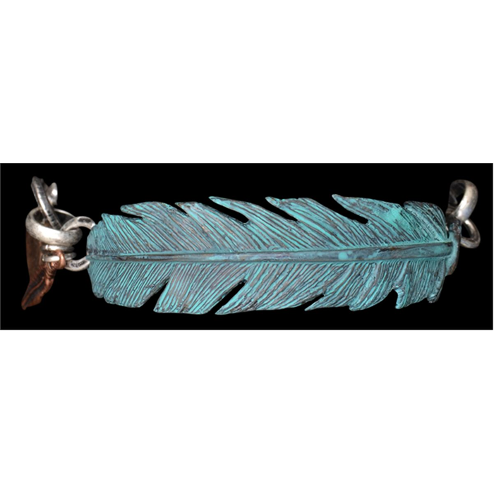 Silver Strike Feather Bracelet