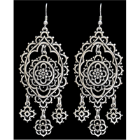 Silver Strike Filigree Earrings