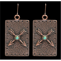 LoulaBelle Copper Arrow Earrings