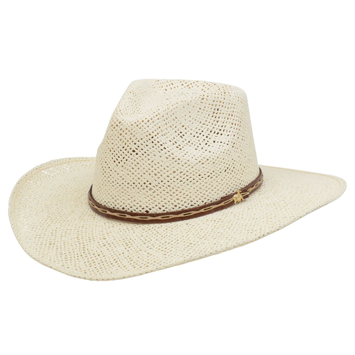 Alamo Twisted Toyo Straw Hat with Hondo Crown