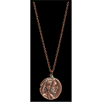 LoulaBelle Copper Indian Chief Necklace