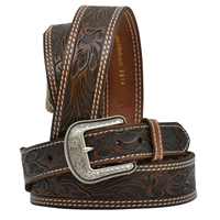 "3D 1 3/4"" Dark Brown Men's Western Fashion Belt"