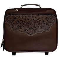 3D Chocolate Brown Laptop/Overnight Luggage
