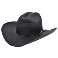 Alamo 5X Black Bangora Straw Hat with Rancher Crown