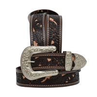 "Angel Ranch 1 1/2"" Chocolate Ladies' Fashion Belt"