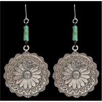 Angel Ranch Round Flower Earrings