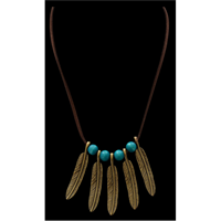 Silver Strike Gold Feather Necklace